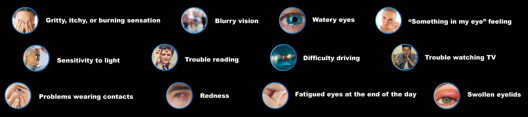 Symptoms of dry eyes
